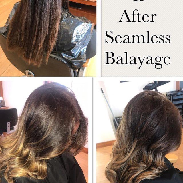 balayage seamlessbalayage smartbond lorealprofessional glossing ghdstyling hairenvy salonishair