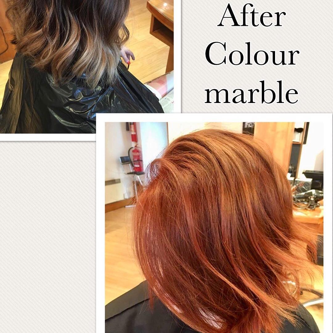 copperhair autumnalhaircolour smartbond colourmarble ghdstyling vividcopper glossyhair welovecoppers