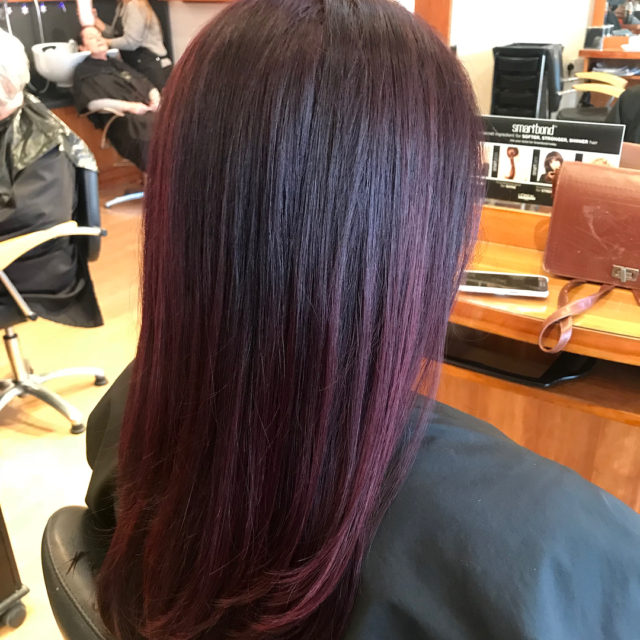 Plum and violet balayage beautiful! We loved this one! smartbondhellip