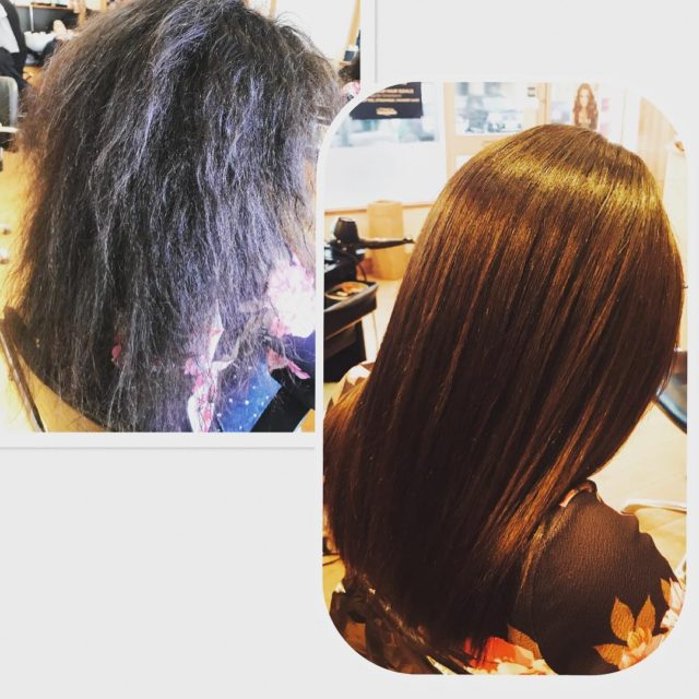 Our Keratin Blowdry at its best! WOW complete transformation andhellip