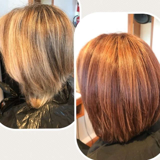 Complete colour change for this lady Suited her so well!hellip