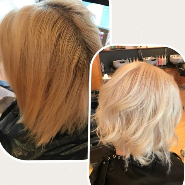 Colour correction with our Blonde Bombshell Service Make Me Blonde!hellip