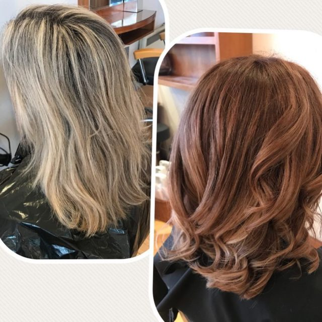 Amazing color change !!! What a difference beautiful! salonishair colorchangehellip